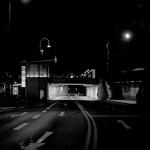 Ein Strasse nachts in Köln