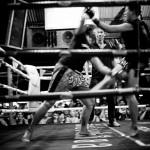 Muay Thai Boxen in Lamai, Frauenkampf