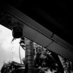 Regen aus der Rinne