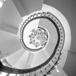 Die Treppe des Hotels
