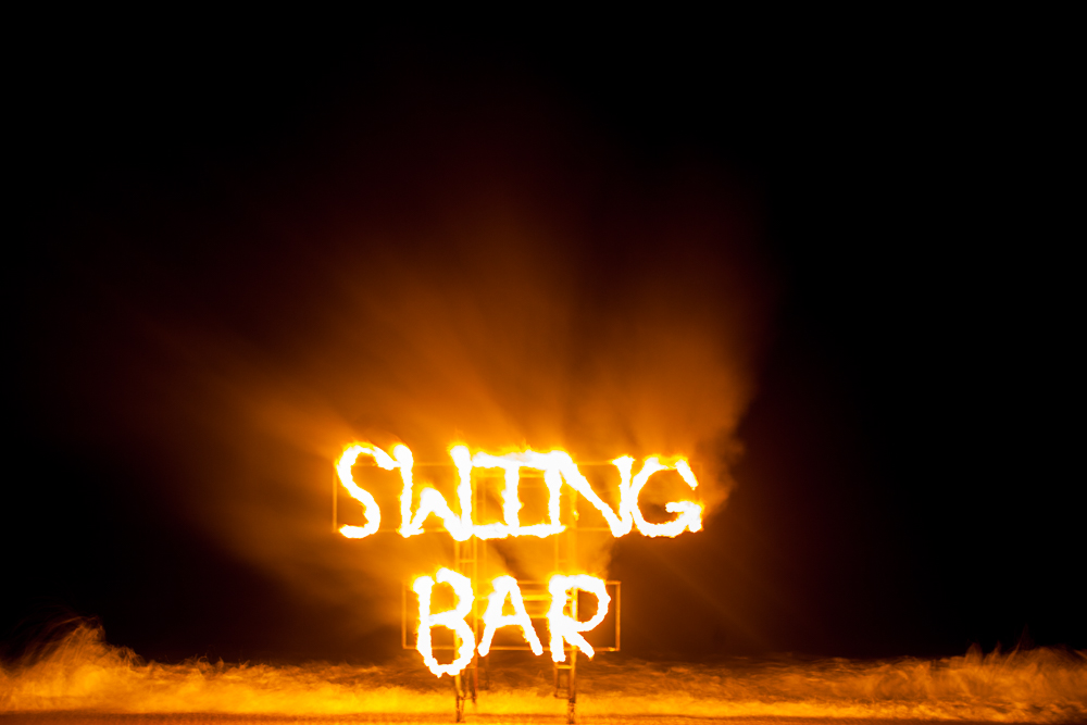 Fire Party an der Swing Bar in Lamai.