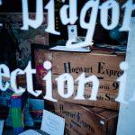 Edinburgh W Bow Schaufenster. Es war ein Laden voller Sachen aus Harry Potter.