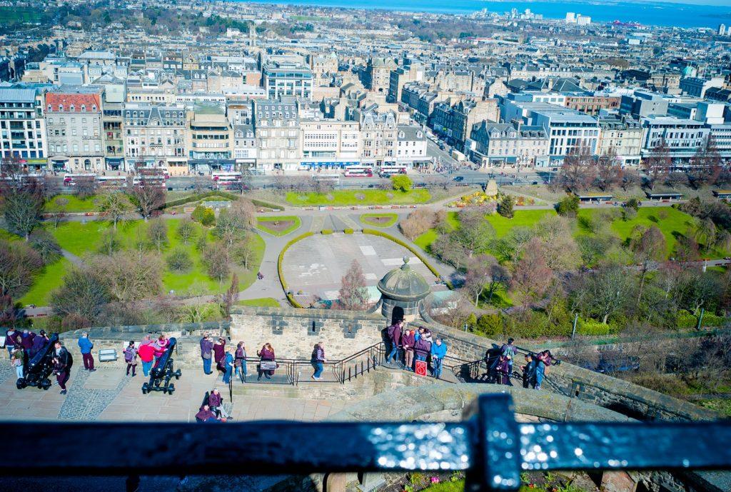 Ausblick von Edinburgh Castle