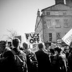 Ein Demonstration von Linken gegen Nazis