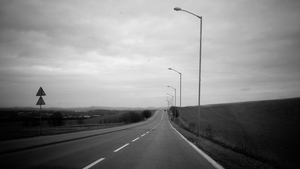 Einfach mal eine Strasse auf den Weg nach Beuthen