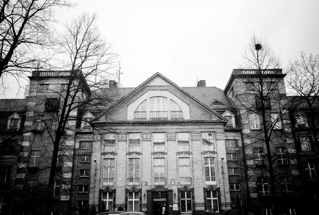 Innenhof des Krankenhauses